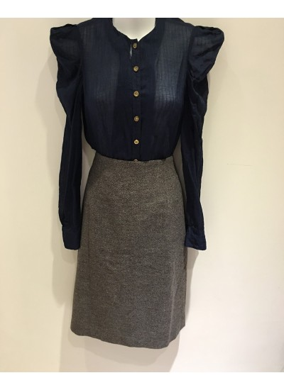 OL百搭直筒長版窄裙