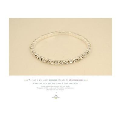 Adamsammi生活賣場/璀璨銀色單排閃鑽手環