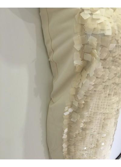 名媛華麗白色亮片長裙