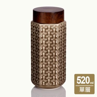 乾唐軒活瓷 | 盛世大唐隨身杯 / 大 / 單層 / 仿木紋蓋 / 3款