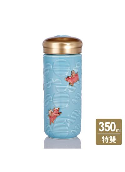 乾唐軒活瓷 | 小飛豬隨身杯 / 大 / 特雙 / 彩金 / 2色