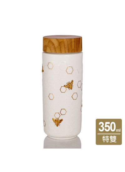 乾唐軒活瓷 | 大豐收隨身杯 / 大 / 特雙 / 木紋蓋 / 4色
