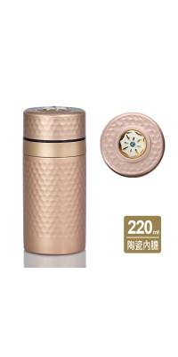 乾唐軒活瓷   小金石保溫杯 / 鎏金+施華洛世奇元素 / 6色
