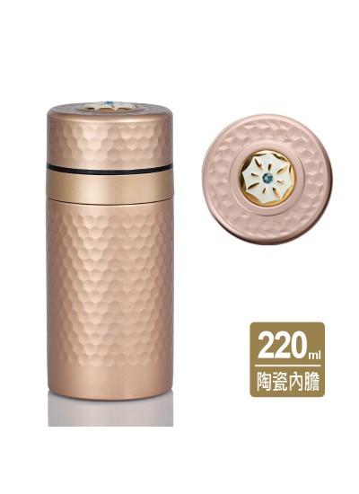 乾唐軒活瓷 | 小金石保溫杯 / 鎏金+施華洛世奇元素 / 6色