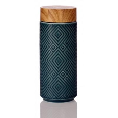 乾唐軒活瓷 | 奇蹟隨身杯 / 大 / 特雙 / 仿木紋蓋 / 3色
