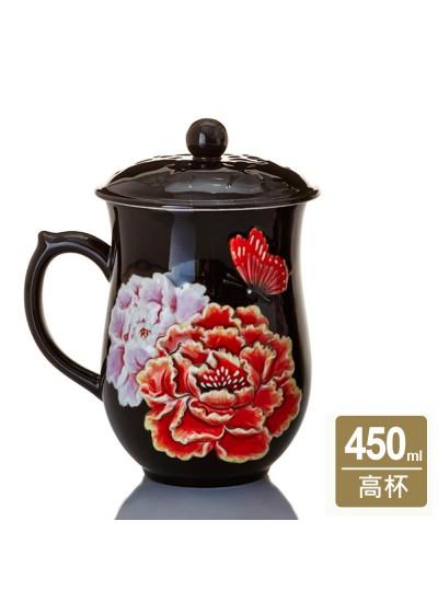 乾唐軒活瓷 | 盛世牡丹高杯 / 2色 / 單面彩繪