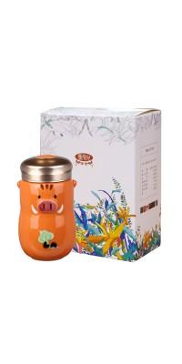 豬小福隨身杯+慢飛兒濾掛式咖啡禮盒組 / 4色