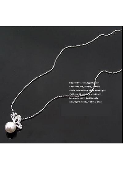 Adamsammi生活賣場/蝴蝶珍珠項鍊