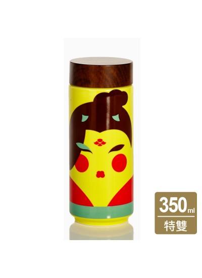 乾唐軒活瓷 | 唐妝美隨身杯 / 大 / 特雙 / 貼花 / 仿木紋蓋